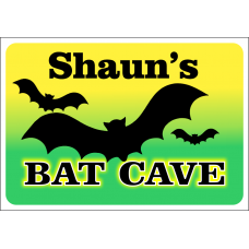 Bat Cave Sign Personalized