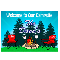 Red Camping Chairs Camping Sign (Change Chair Color)