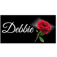Red Rose  License Plate